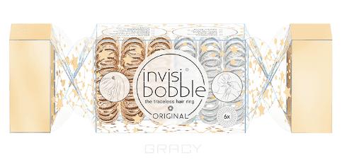 Invisibobble Набор резинок для волос Original The Wonderfuls Duo Cracker, золотистый, жемчужный, 6 шт/уп