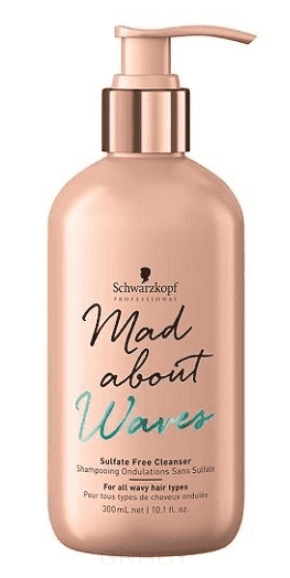Schwarzkopf Professional Бессульфатный очищающий крем-шампунь для волнистых волос Mad About Waves Sulfate Free Cleanser , 1 л trendy women s sandals with colorful rhinestone and chunky heel design