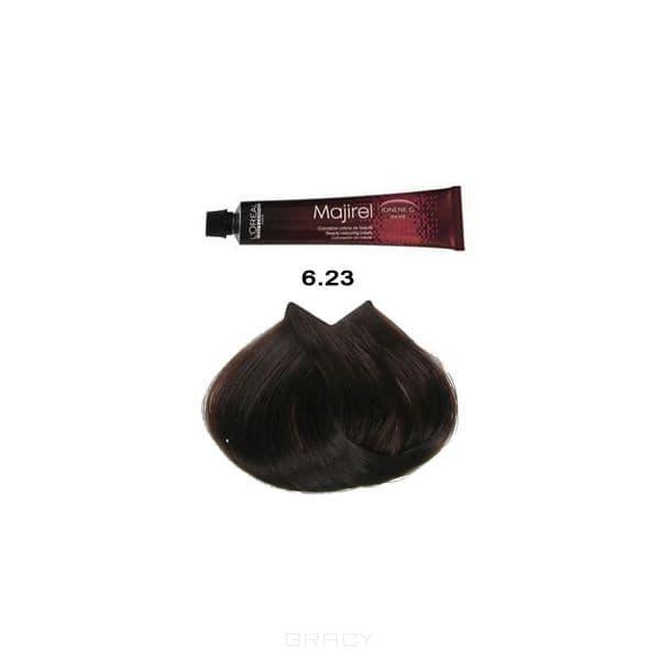 LOreal Professionnel, Крем-краска Мажирель Majirel, 50 мл (88 оттенков) 6.23 тёмный блондин перламутрово-золотистый