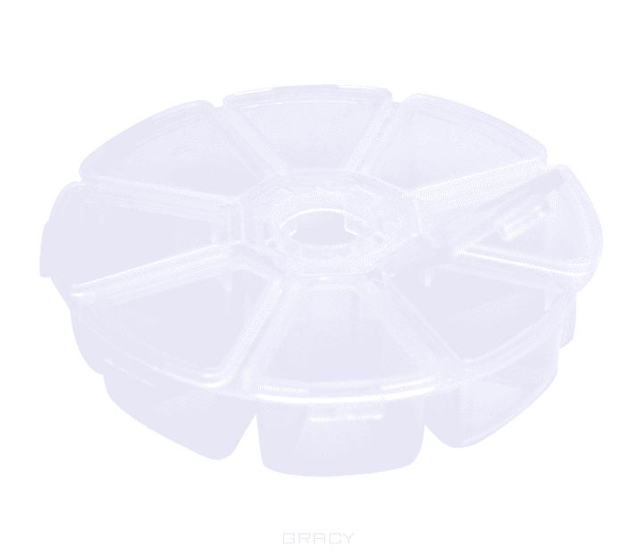 Planet Nails Контейнер для украшений круглый, 1 шт, Белый planet nails контейнер пластиковый 1 шт голубой