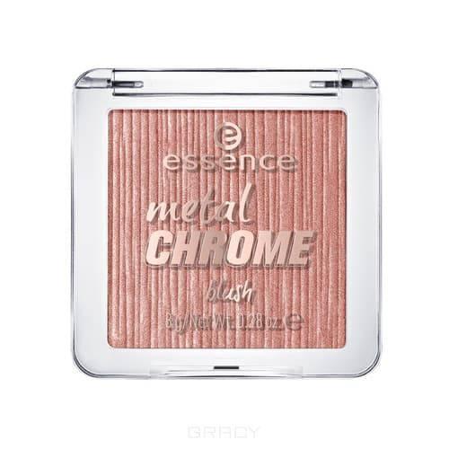 Essence Румяна Metal chrome (2 тона), 1 шт, Тон 10, золотой essence matt touch румяна тон 10