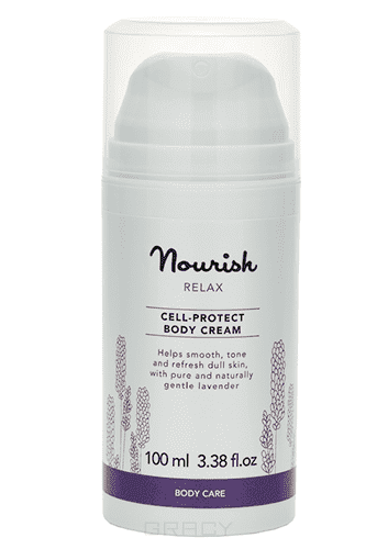 Clarette Успокаивающий крем для тела, для чувствительной кожи Relax Body Cream Nourish, 100 мл