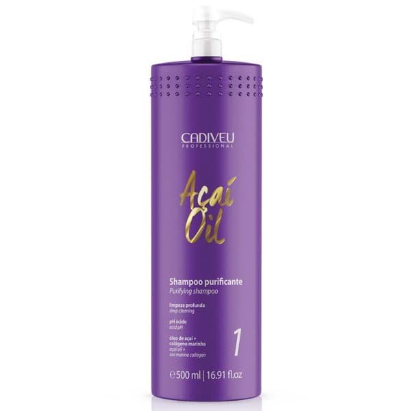 Cadiveu Professional Очищающий шампунь Acai Oil Shampoo Purifying, 500 мл londa очищающий шампунь для жирных волос purifying shampoo 250 мл
