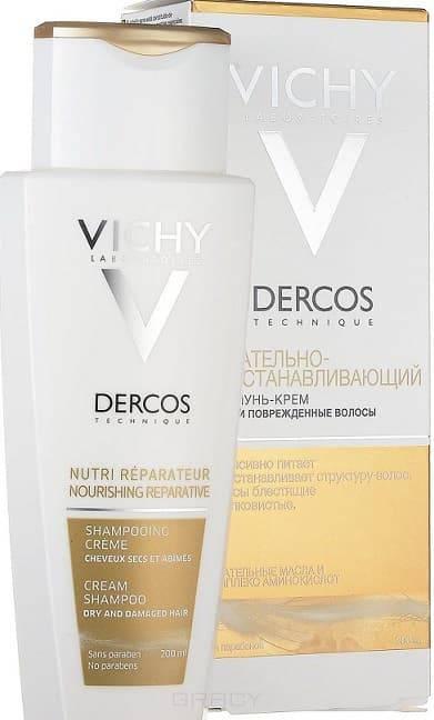 Vichy Шампунь-крем питательно-восстанавливающий для сухих и поврежденных волос Dercos, 200 мл