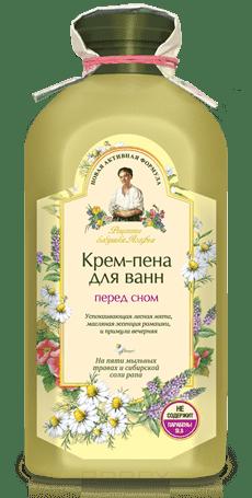 Рецепты бабушки Агафьи, Крем-пена для ванн Перед сном, 500 мл
