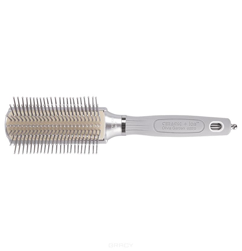 Olivia Garden Щетка Ceramic+Ion Syler R7 OGBCISTLR7 щетка olivia garden ogbhhp5 healthy hair ionic vented paddle hh 5 щетка для волос ogbhhp5