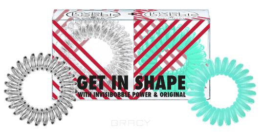 Invisibobble Набор резинок для волос ORIGINAL Get in Shape, прозрачный/мятный, 2х3 шт