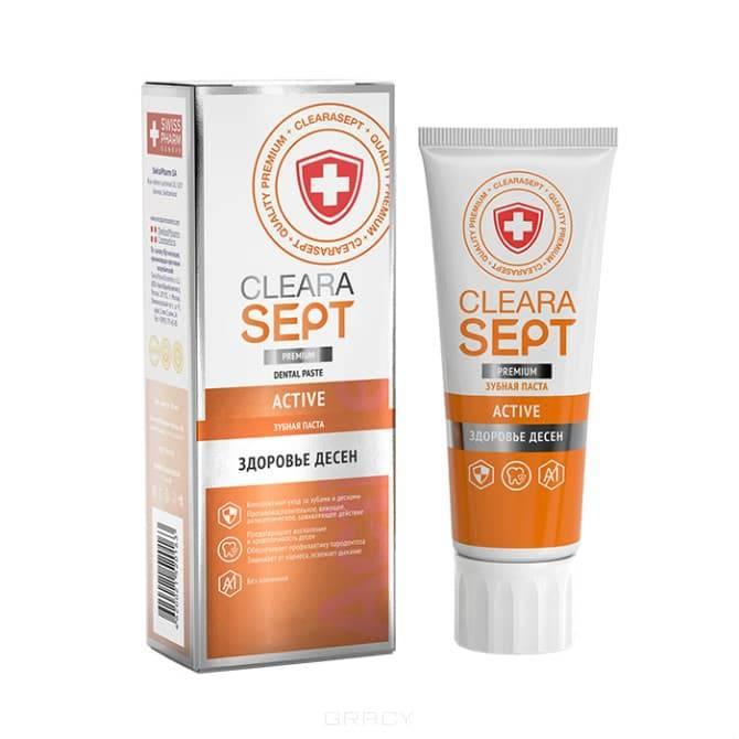 ClearaSept - Зубная паста Active Здоровье десен, 75 мл
