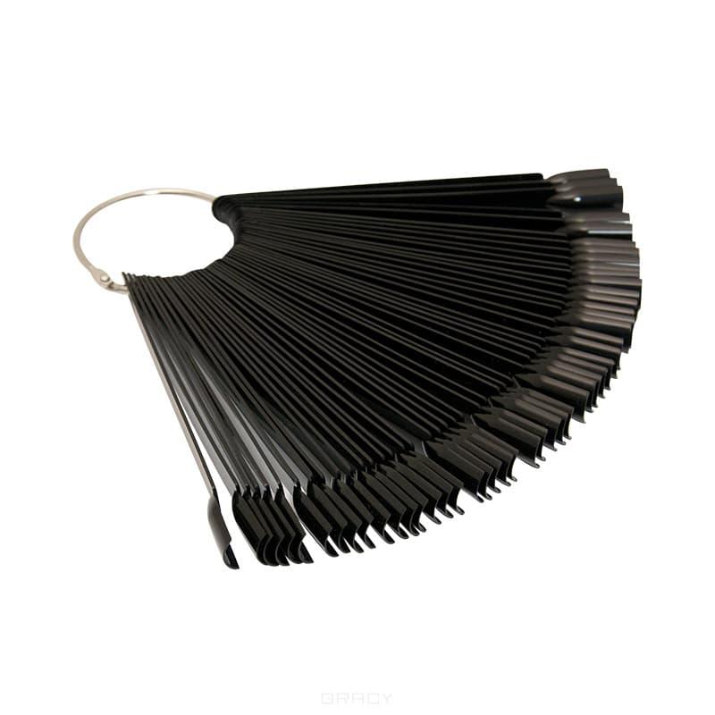 Купить Planet Nails - Палитра для лаков веер, черная 48 шт