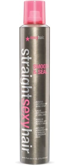 Sexy Hair, Спрей разглаживающий Smooth And Seal Aerated Anti-Frizz Spray